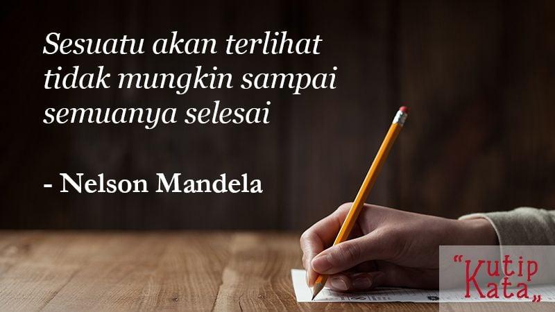 Kata Kata Mutiara Kehidupan - Nelson Mandela