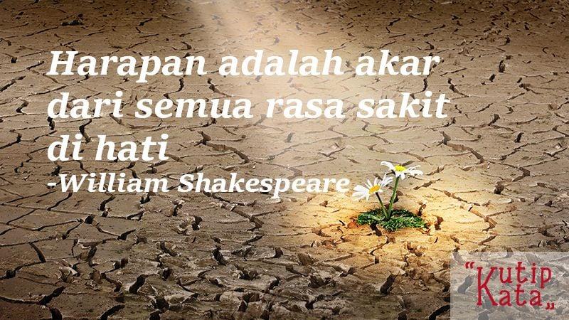 Kata kata kecewa untuk seseorang - Kutipan Shakespeare