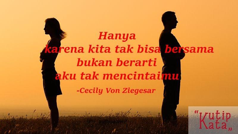 Kata kata cinta sedih - Kutipan Cecily