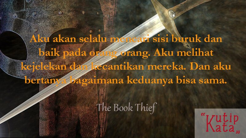 Kata Kata Indah Novel - The Book Thief