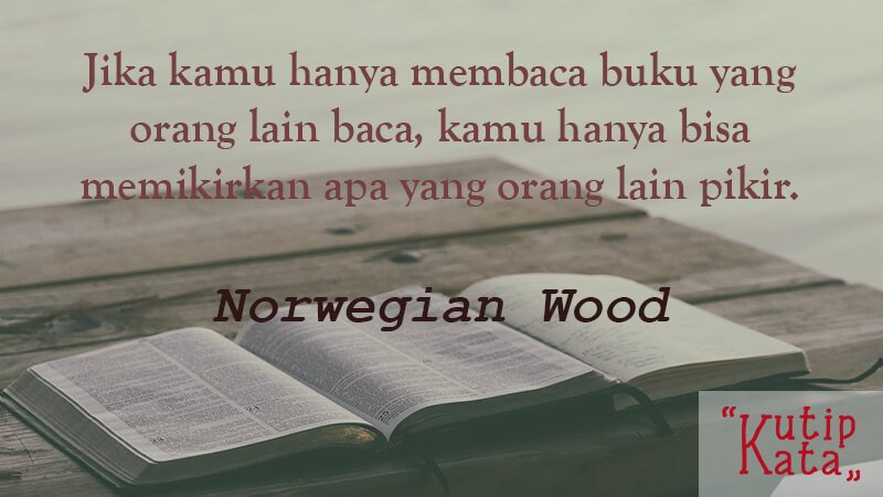 Kata Kata Indah Novel - Norwegian Wood