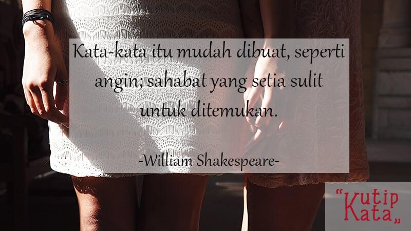 Kata Kata Sindiran untuk Teman - William Shakespeare