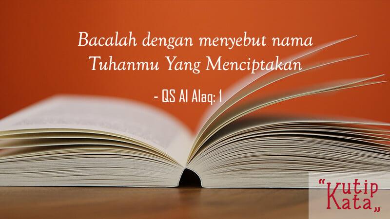 Kata Kata Motivasi Belajar - QS Al Alaq 1