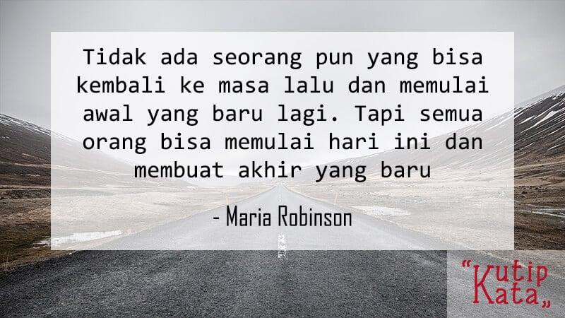 Kata Kata Motivasi Belajar - Maria Robinson