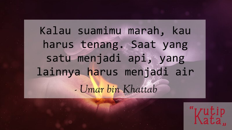Kata Kata Cinta Islami - Umar bin Khattab