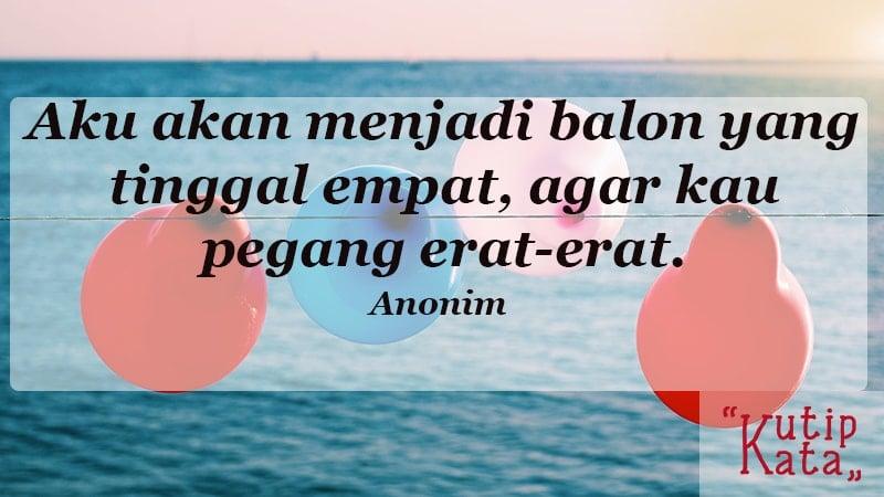 kata kata romantis buat pacar - anonim empat balon