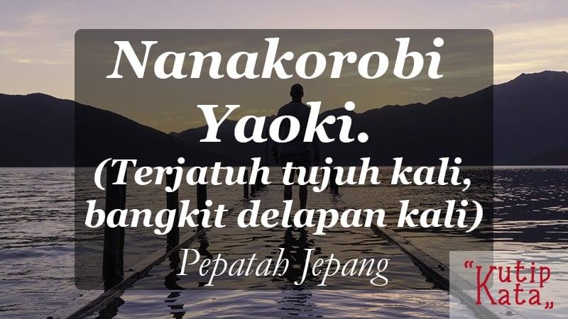motto hidup orang sukses - Pepatah Jepang